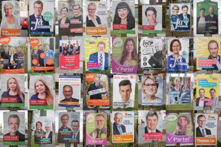 Collage aus Wahlplakaten 2020 Kommunalwahl Augsburg