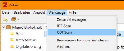 Zotero ODF Scan