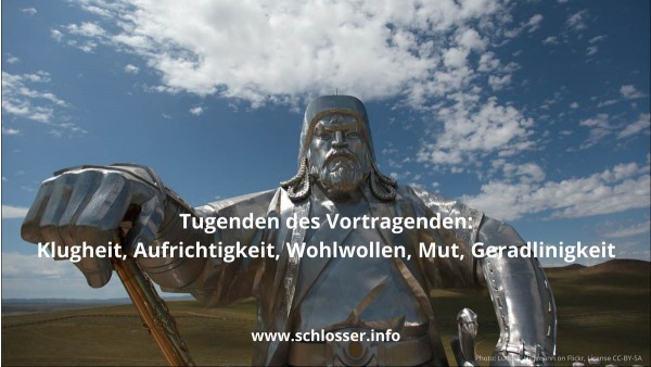 Tugenden Vortragender