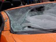 Auto-Scheibe-Unfall
