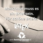Brief in LaTeX