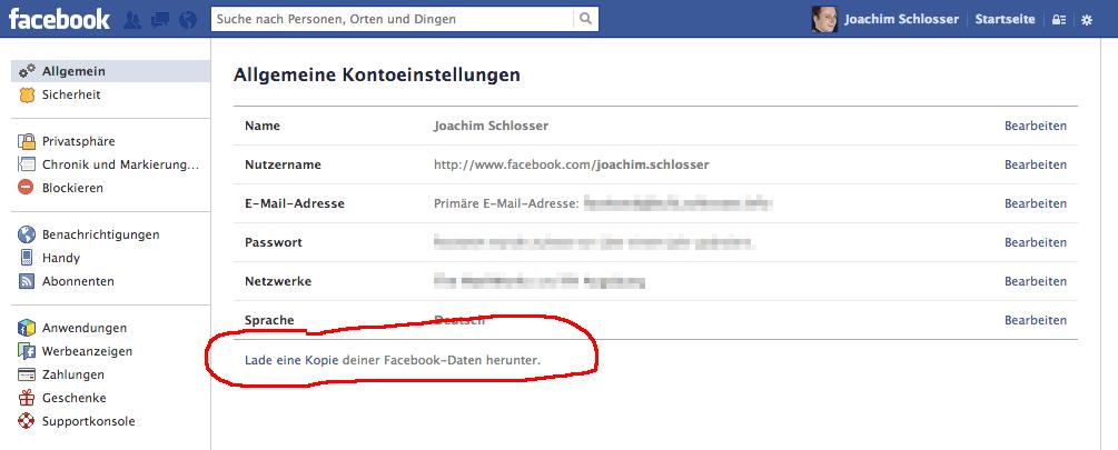 Facebook Freundesliste Exportieren