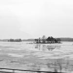 Kleine Insel im Eis