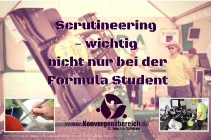 5 Gründe für Scrutineering ‒ nicht nur bei der Formula Student