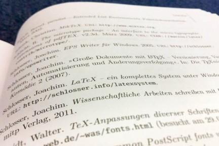 Literaturverzeichnis LaTeX-Buch