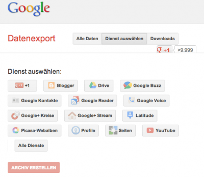 GoogleTakeout - screenshot google.com