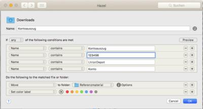 Automatisierung mit Hazel_Banking_Move
