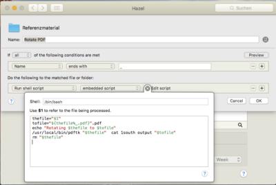 Automatisierung: PDF-Dokumente drehen mit Hazel und PDFtk