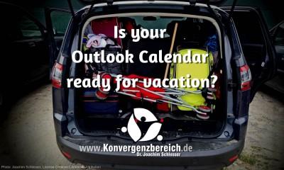 Outlook Calendar Vacation