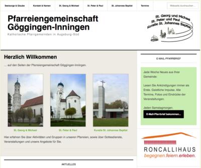 Pfarreiengemeinschaft Screenshot