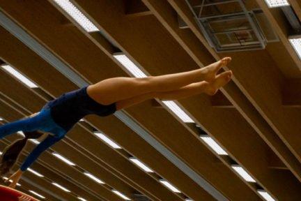 Sporter springt