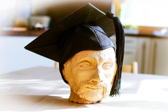 Tonkopf Dr PhD Doktorhut