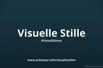 Visuelle Stille in Vortrag und Präsentation