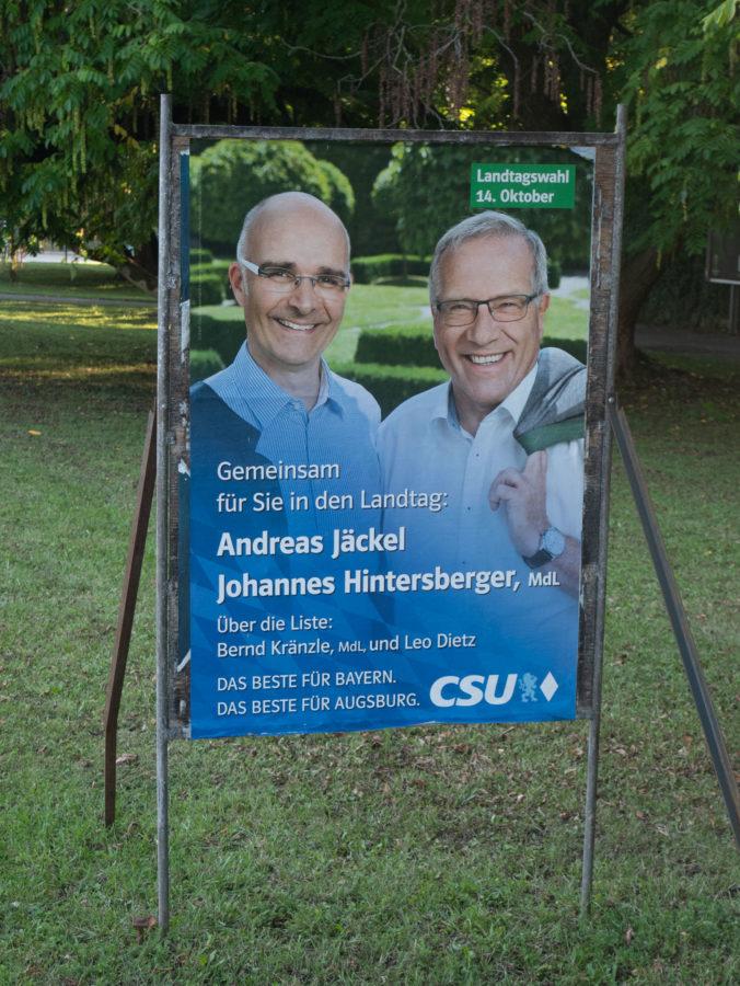 Wahlplakat 2018 CSU Jäckel Hintersberger
