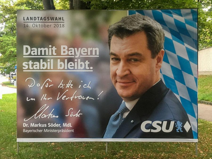 Wahlplakat 2018 CSU Söder