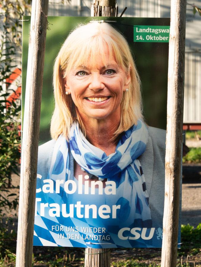 Wahlplakat 2018 CSU Trautner