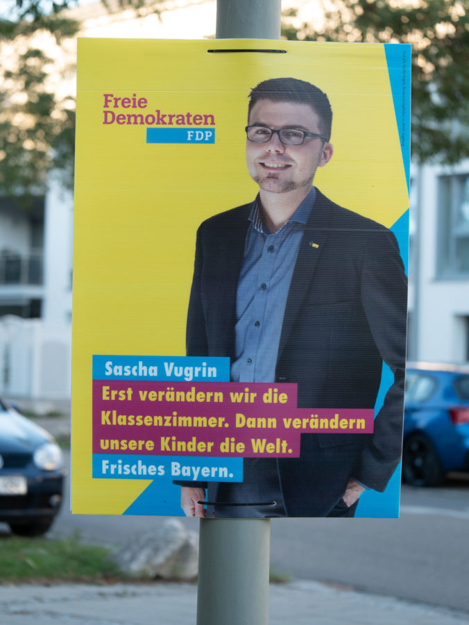 Wahlplakat 2018 FDP Vugrin