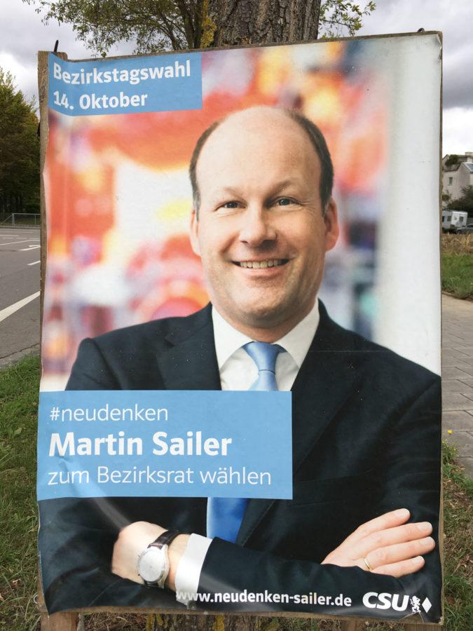 Wahlplakat 2018 CSU Sailer