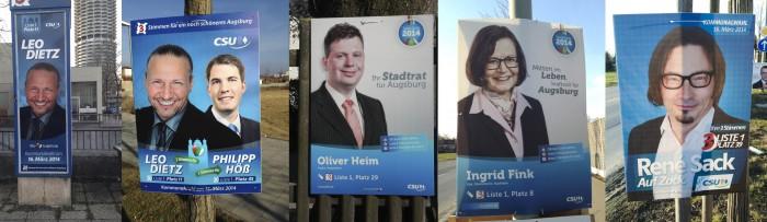Wahlplakate CSU