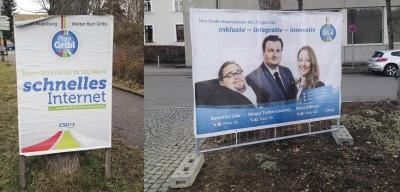 Wahlplakate CSU 2