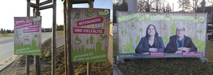 Wahlplakate Grüne