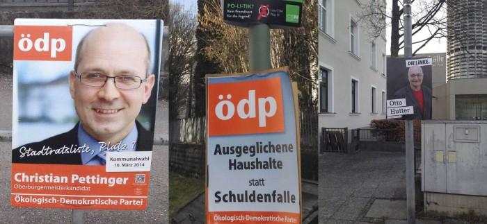 Wahlplakate ÖDP Linke