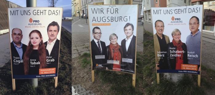 Wahlplakate Pro Augsburg – Gruppenfotos