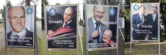 Plakate OB Kurt Gribl