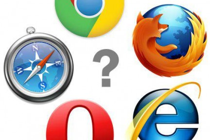 Browserlogos. Icons (c) by Microsoft, Google, Apple, Opera, Mozilla