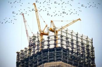 Gebäude im Bau
