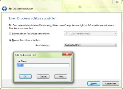 Drucker neuer Anschluss/Port