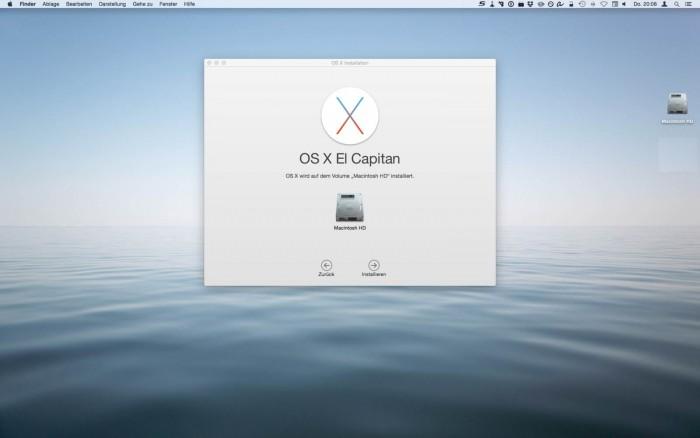 Mac OS X El Capitan Install