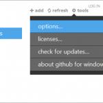GitHub Options