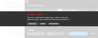 Git Merge-Konflikt