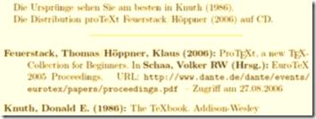 Beispiel eines Literaturverzeichnisses mit Zitaten
