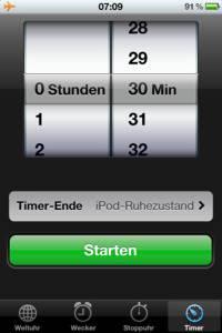 Timer-Funktion beim iPhone 4