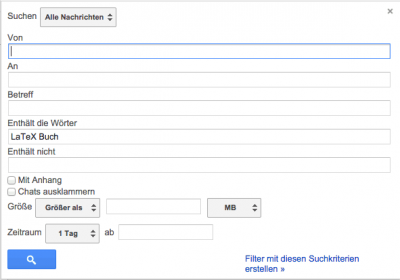 GoogleMail - Filter Setup