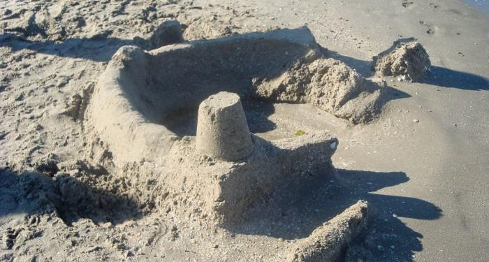 Sandburg zerfallen
