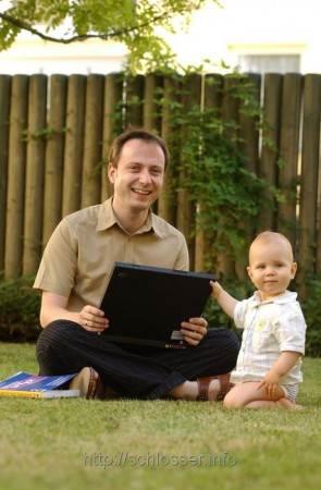 Quirin und Joachim im Sommer 2007 (Photo: AZ)