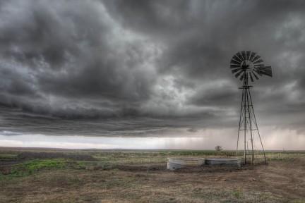 Sturm Prärie Windrad