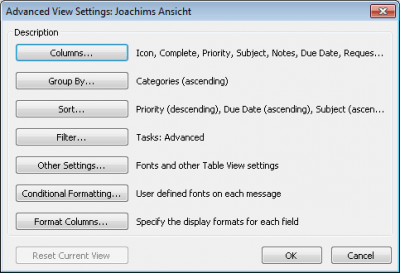 GTD Task-view-setting