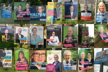 Porträtfotos auf Wahlplakaten 2018