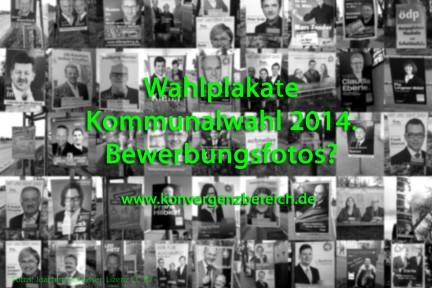 Wahlplakate zur Kommunalwahl 2014 in Augsburg – Pro Augsburg, CSM, Freie Wähler, AfD, FDP, ÖDP